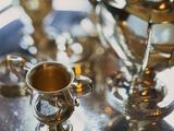 Silver Tea Service Fotografie-Druck von Terry Vine