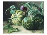 A Still Life of Pumpkins and Artichokes Lámina giclée por Carl Vilhelm Balsgaard
