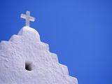 Old Church in Mikonos Impressão fotográfica por David Ball