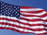 American Flag Blowing in the Wind Fotografie-Druck von Joseph Sohm