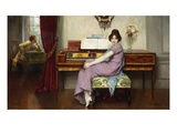 The Reluctant Pianist Giclee Print by William A. Breakspeare