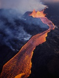Puu Oo Crater Erupting Photographic Print by Jim Sugar