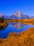 Oxbow Bend Reflecting Mount Moran Photographic Print by Joseph Sohm