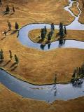 Gardiner River in Yellowstone National Park Fotografie-Druck von Jason Hawkes