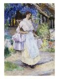 The Pretty Milkmaid Gicléetryck av David Woodlock