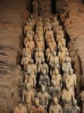 Terracotta Warrior Statues in Qin Shi Huangdi Tomb Fotografie-Druck von Keren Su