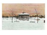 Bandstand, Branch Brook Park, Newark, New Jersey Print