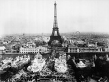 Aerial View of Paris Reproduction photographique par  Bettmann