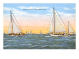 Mackinac Races, Port Huron, Michigan Poster