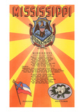 Mississippi Song, Seal, Flag and Flower Posters