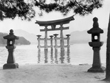 Torii Gate in Water Reproduction photographique