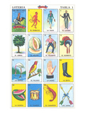 Mexican Fortune Telling Cards Poster