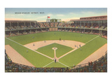 Briggs Stadium, Detroit, Michigan Poster