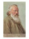 Portrait of Brahms Posters