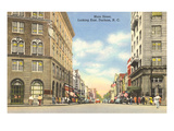 Main Street, Durham, North Carolina Poster