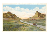 Mitchell Pass, Scottsbluff, Nebraska Kunstdruck