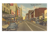 Elm Street, Greensboro, North Carolina Kunstdrucke