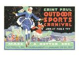 Publicité pour le carnaval de Saint- Paul, Minnesota Affiche