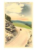 Autostrada panoramica di Blue Ridge, North Carolina Poster