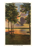 Sunset on Lake Harriet, Minneapolis,  Minnesota Kunst