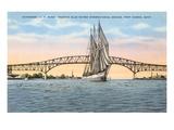 Schooner, Bridge, Port Huron, Michigan Prints