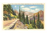La strada del Going-to-the-Sun, parco di Glacier, Montana Stampe