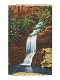 Bridal Veil-Wasserfälle, Linville, North Carolina Poster
