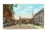 Main Street, Rochester, New Hampshire Kunstdruck