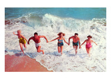 Frolicking in Waves, Retro Kunst