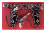 Toy Holster and Six-Shooter Premium Giclee-trykk