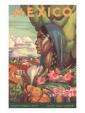 Mexico Poster, Native Woman Prints