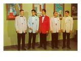 Men Modeling Tuxedos Poster