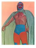 Mexican Wrestler with Thunderbird Motif Plakater
