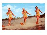 Three Bathing Beauties Waterskiing Posters