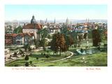 View over St. Paul, Minnesota Kunstdruck