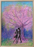 Lovers Dance under Full-Bloomed Cherry Blossoms Gerahmter Giclée-Druck von Mariko Miyake