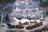 New York: Central Park Giclee-trykk av Currier & Ives,
