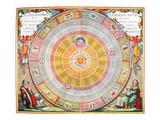 Copernican Universe, 1660 Giclee Print by Andreas Cellarius
