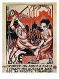 Russia: Soviet Poster, 1920 Giclée-Druck von Nikolai Kogout