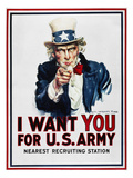 World War I: Uncle Sam Giclee Print by James Montgomery Flagg