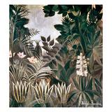 Rousseau: Jungle, 1909 Giclee-trykk av Henri Rousseau