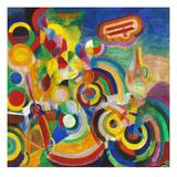 Delaunay: Hommage Bleriot Giclée-tryk af Robert Delaunay