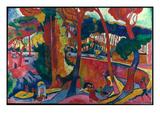 Derain: L'Estaque, Giclee-trykk av Andre Derain