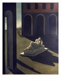 Chirico: Melancolie, 1914 Gicléetryck av Giorgio De Chirico