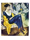 Anna Akhmatova (1889-1967) Giclée-tryk af Nathan Isaevich Altman