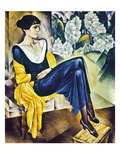 Anna Akhmatova (1889-1967) Giclée-Druck von Nathan Isaevich Altman