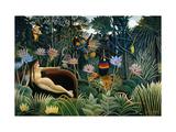 Rousseau: Dream, 1910 Reproduction procédé giclée par Henri Rousseau