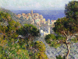 Monet: Bordighera, 1884 Gicléetryck av Claude Monet