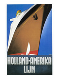 Dutch Travel Poster, 1932 Giclee-trykk av Willem Ten Broek