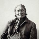 Geronimo (1829-1909) Bedruckte aufgespannte Leinwand von Adolph F. Muhr